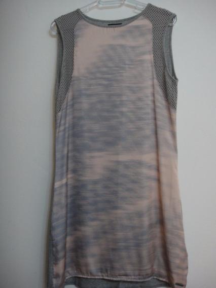 Vestido Calvin Klein Jeans - Cinza E Rosê