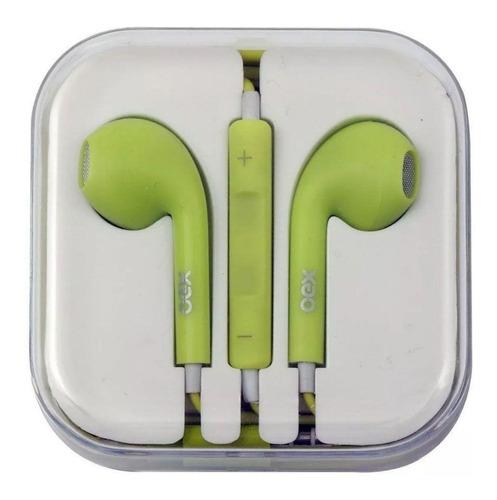 Fone De Ouvido Intra Auricular Oex Candy Fn204 Verde Pastel