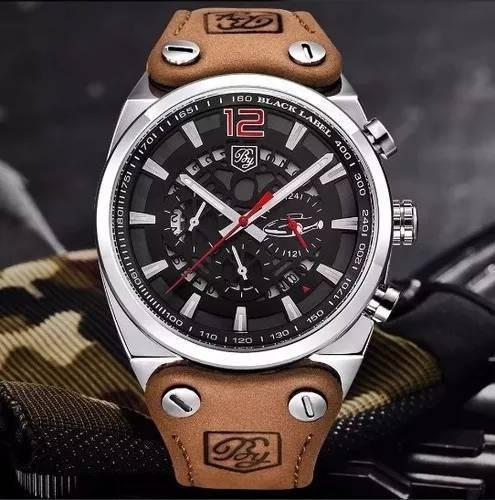 Relógio Masculino Benyar 5112 Couro Legítimo 100% Funcional