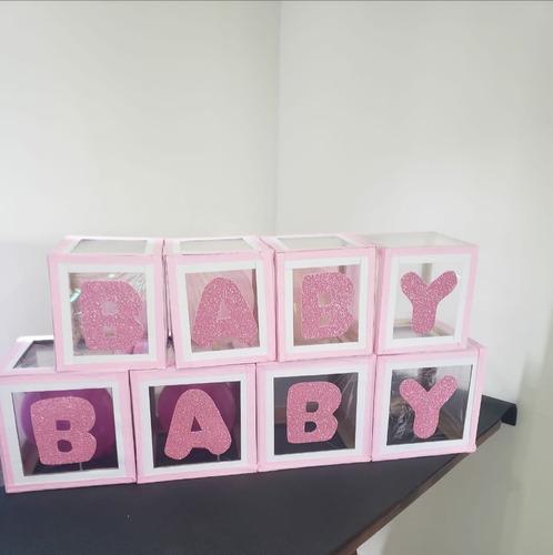 Imagen 1 de 10 de Cubos Decorativos Babyshower