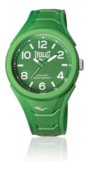 Relógio Pulso Everlast Unissex Esporte Silicone Verde E704