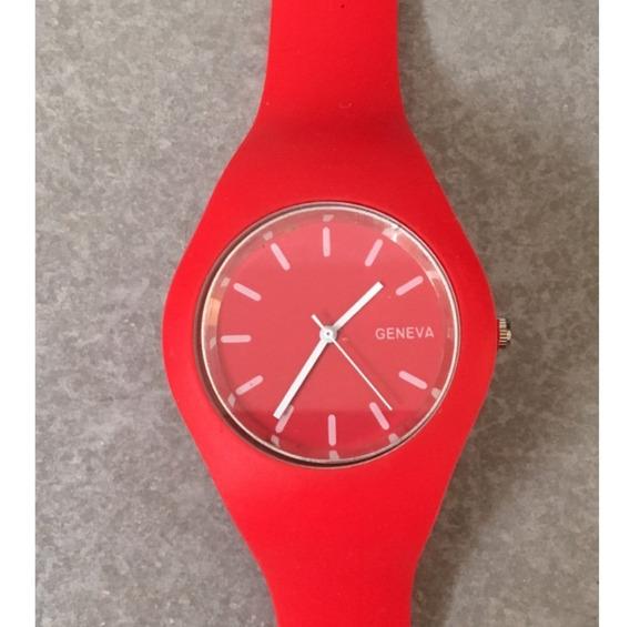 Reloj Unisex Silicona Rojo