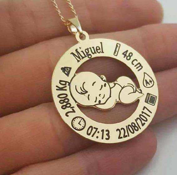 Colar Mandala Nascimento Do Bebê Personalizado