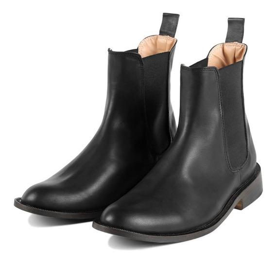 Nuevas! Botas Zapato Chelsea Hombre 100% Cuero Bourbon Store