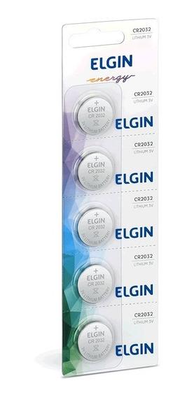 50pcs Bateria Moeda Cr2032 3v Pilha Elgin Cartela Blister