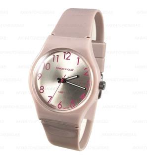 Reloj Knock Out Mujer Glitter Silicona Colores Fashion
