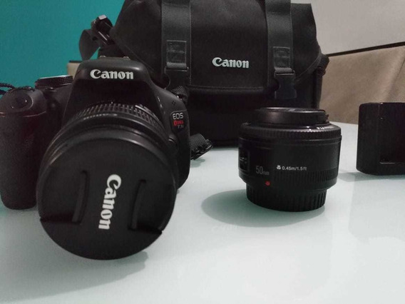 Camera Canon T3i Completa + Lente 50mm 1.8