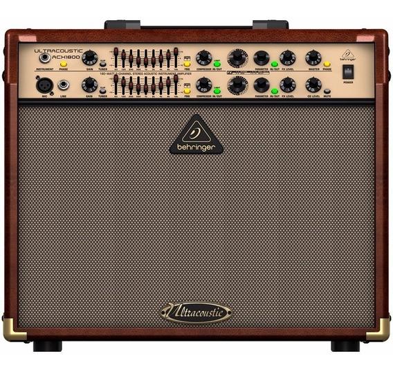 Amplificador Para Violão E Voz Behringer 180w Acx1800 110v