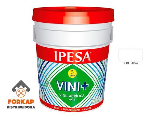 Imagen 1 de 2 de Pintura Vinil Acrilica 19l 5 Años Vini+ Lavable (cubeta)