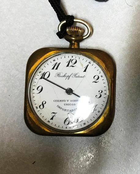 Hermoso Reloj De Bolsillo Cuervo Y Sobrinos