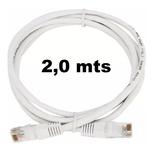 Puntotecno - Cable De Red 2 Mts Blanco Categoria 5e