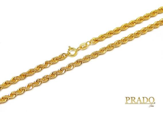 Corrente Colar Cordão Baiano Em Ouro 18k 45cm