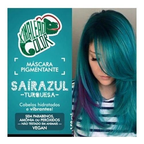 Kamaleão Color Máscara Pigmentante Saírazul - Turquesa -
