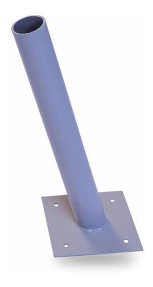 Suporte De Aço 50cm Para Luminária Pública Solar De Led