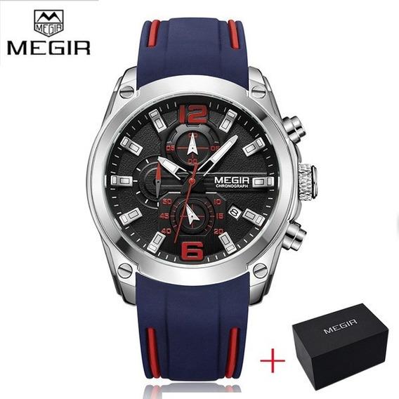Relógio Megir - Original - Novo - Cronógrafo