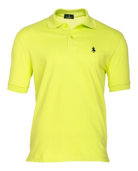Playera Polo Club - Neón