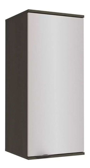 Armário Aéreo Kappesberg Nox H781 1 Porta 40cm Onix/steel