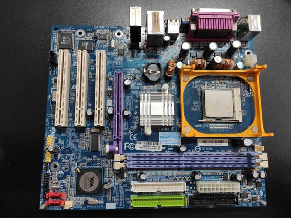 Placa Mãe Gigabyte Ga-8vm800m + Pentium 4 2.0 Ddr