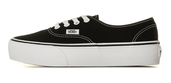 Zapatilla Vans Plataforma Authentic Tela Negra 100%original
