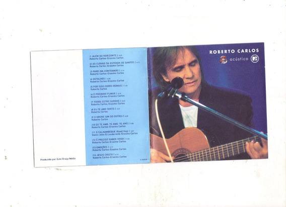 Cd Roberto Carlos Acústico, Além Do Horizonte, Cd Original