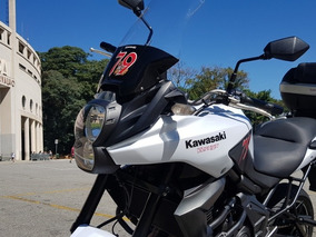 Kawasaki Versys 650 Branca Com Abs Com Acessorios Baixa Km