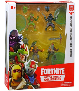 Fortnite Battle Royale Collection Set X4 Figuras Klm 63508