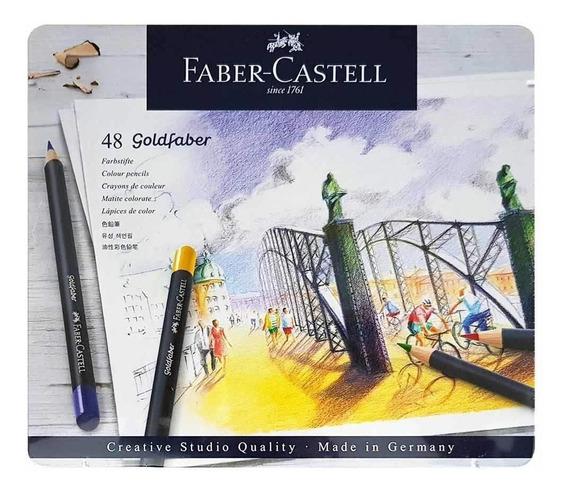 Lapis De Cor Goldfaber 48 Cores - Faber Castell