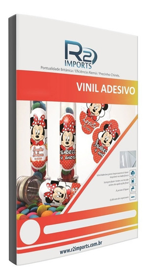 Vinil Adesivo Branco Fosco P/ Jato De Tinta A4 - Prova Dágua