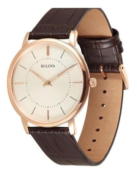 Relógio Bulova Masculino Slim Wb22436x Rosê