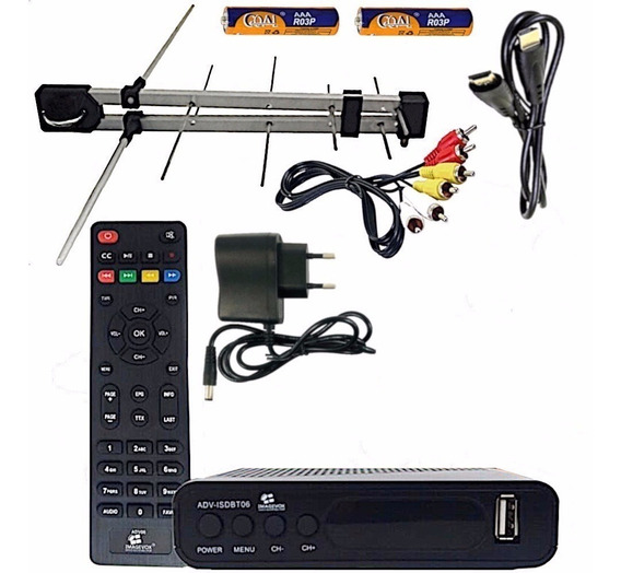 Kit Tv Digital - Conversor Imagevox E Antena Externa