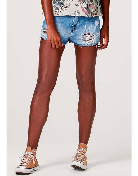 Shorts Jeans Feminino Modelagem Hot Pants Hering