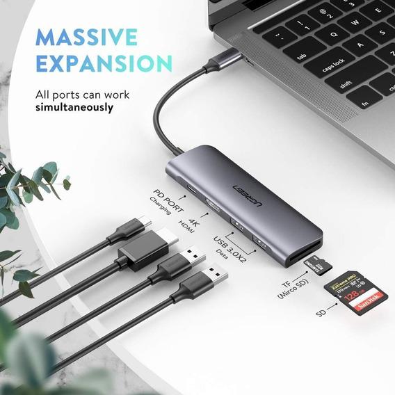Adaptador Thunderbolt 3 Hub Usb Hdmi 4k Macbook Dex S9 S10