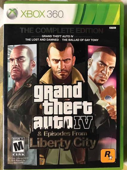 Gta Iv The Complete Edition Xbox 360 Mídia Física Original