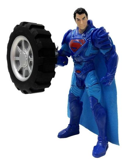 Boneco Superman Power Attack Deluxe - Wheel Wrecker Y0809