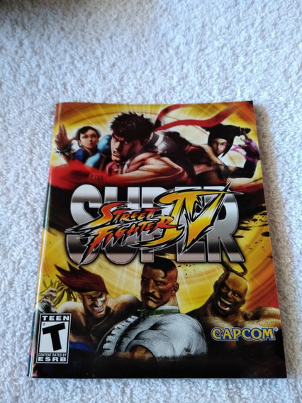 Manual Do Game Super Street Fighter Iv Ps3 *** Leia