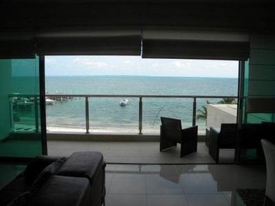 Magnifico Departamento Frente Al Mar En Renta. Residencial La Playa. Cancún