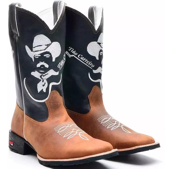 Bota Texana Country Masculina Bic Quadrad Cour Tião Carreiro