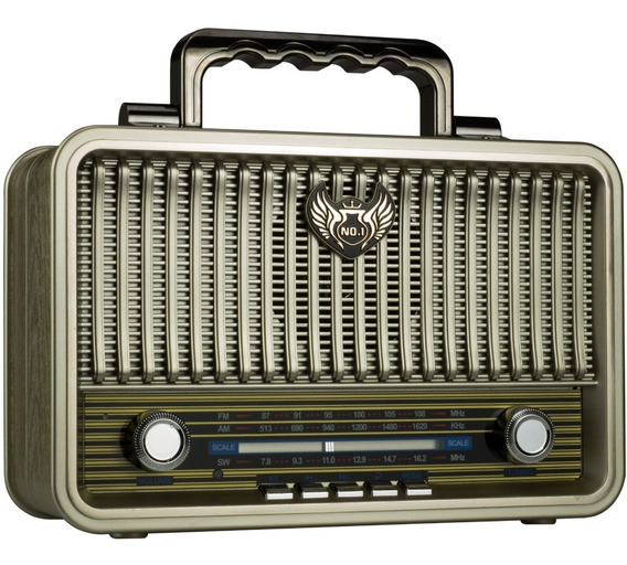 Radio Am Fm Bluetooth Vintage Retro Antigo Caixa Som Bateria