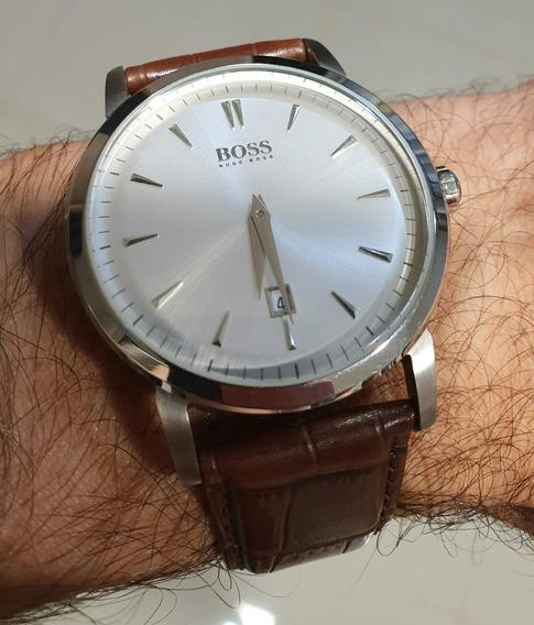 Relógio Hugo Boss Clássico Vintage Couro