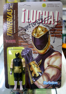 Tinieblas Jr Figura Super 7 Reaction Lucha Libre Autógrafo