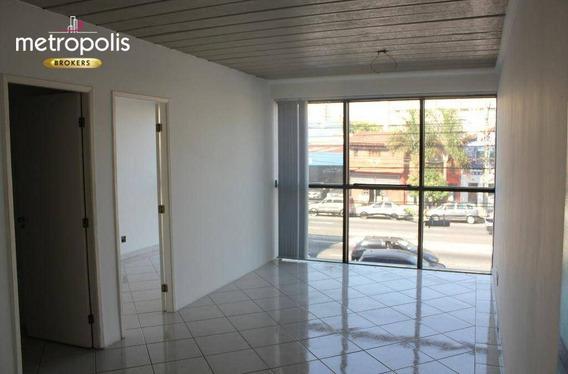 Sala Para Alugar, 55 M² Por R$ 2.000,00/mês - Santo Antônio - São Caetano Do Sul/sp - Sa0296