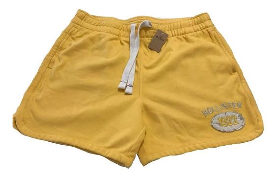 Short Hollister Hombre Nuevo Amarillo Con Etiqueta L
