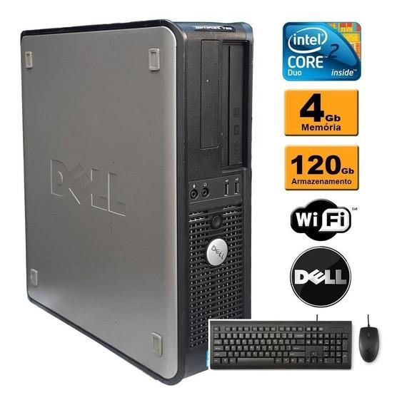 Cpu Dell 780 C2d 4gb Ssd 120gb Teclado E Mouse Refurbished