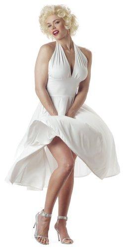 California Disfraces Mujer Marilyn Vestuario, Blanco, Medio