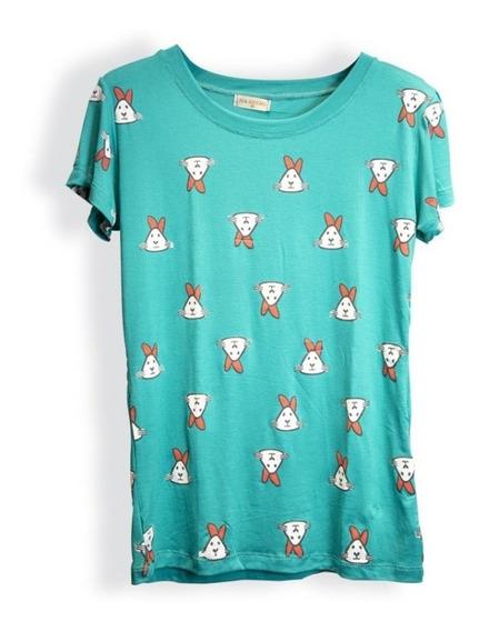 T-shirt Blusinha Feminina Personagens Catinho