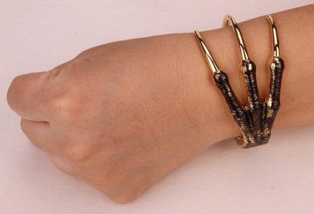 Pulseira Bracelete Garra Prateado Unissex Importado