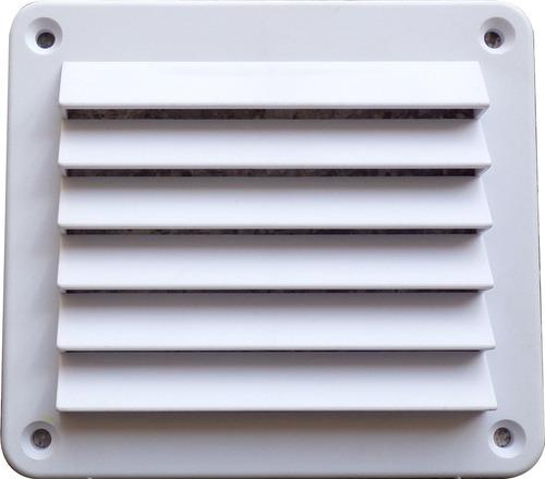 Allcata///Ø 125 mm//185 x 185//Jalousie Rejilla de ventilaci/ón con l/áminas de gravedad.