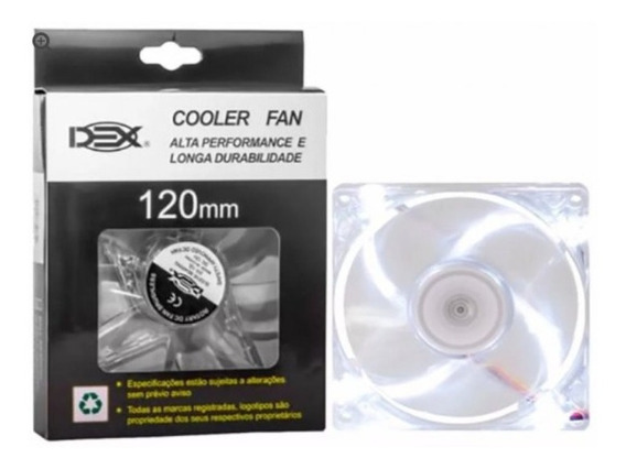 Cooler Fan Led 12cm 120mm Pc Gamer C/ 4 Leds