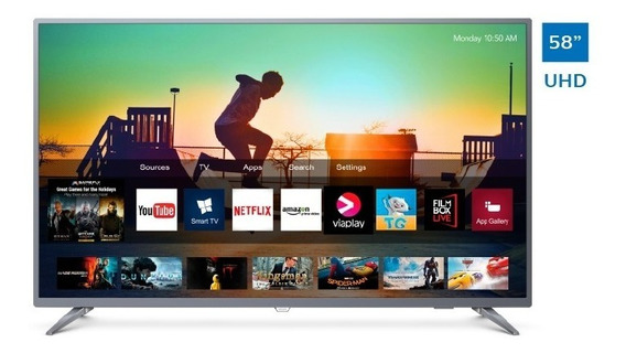 Televisor Philips Smart 4k Uhd Ultradelgado 58 58pud6513