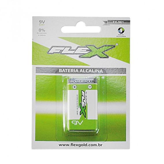 Bateria Flex 9v Alcalina 1 Unidades